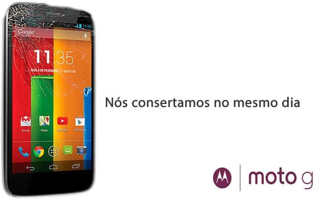 Troca do display do Motorola Moto E, Moto G e Moto X, troca da bateria em São Paulo.